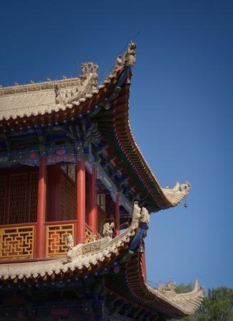 jiayuguan pass tower: Traditional eaves Editorial