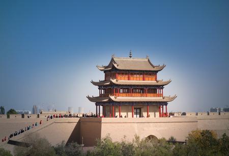 jiayuguan pass tower: Jiayuguan City