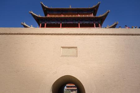 jiayuguan pass tower: Jiayuguan Pass ancient building Editorial