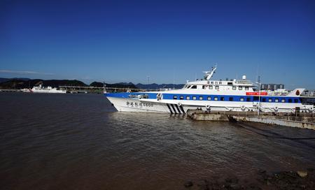 patrol: Zhejiang harbor patrol boat pier
