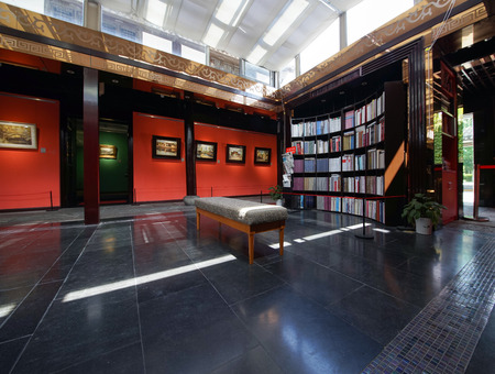 the exhibition hall: The book exhibition hall