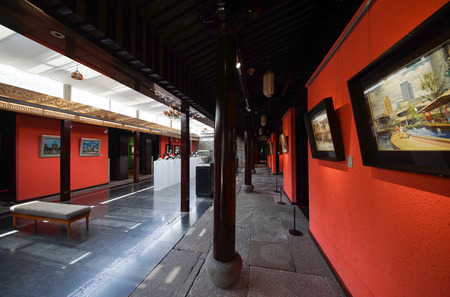 the exhibition hall: Art Exhibition Hall Editorial