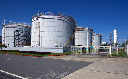 Chemical plant storage tank