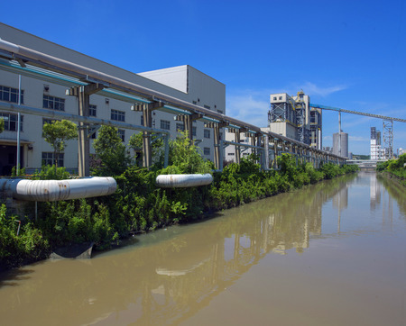 industrial park: Industrial Park beside river