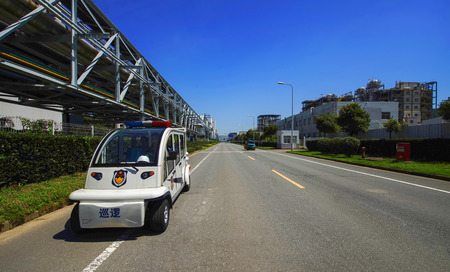 patrol car: Factory patrol car