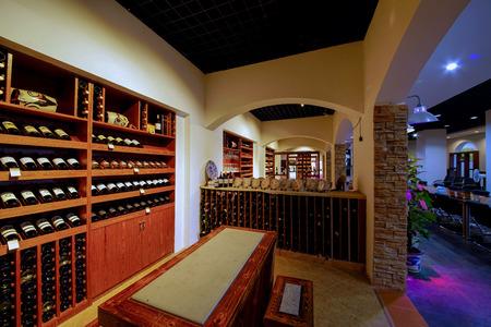 wine trade: Winery bar