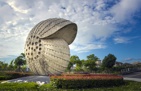 Conch landscape sculpture Editorial