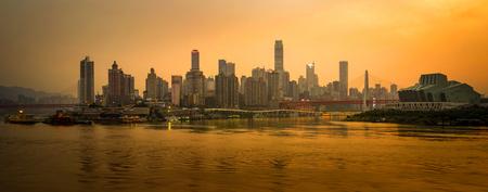 Landscape view of Chaotianmen, Chongqing Editorial