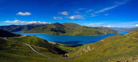 Landscape view of Tibet highland
