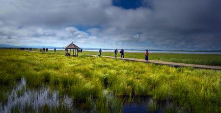 plateau: Lake scenery Editorial