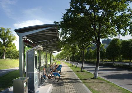 rental: Bicycle rental station Editorial