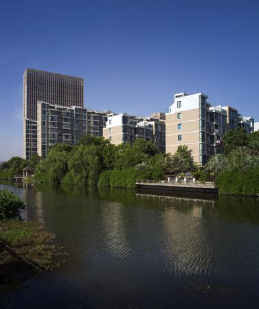landscape riverside: High rise residential quarters