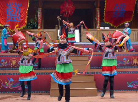 ethnic customs: the She ethnic group dancing