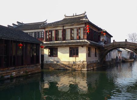 Zhouzhuang dwellings Stock Photo