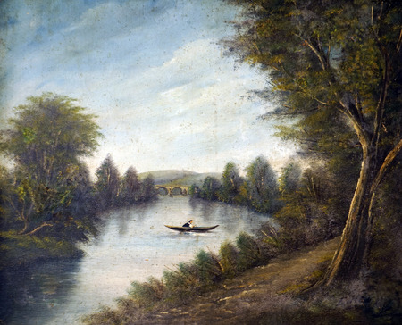 teahouse: Boating on the river