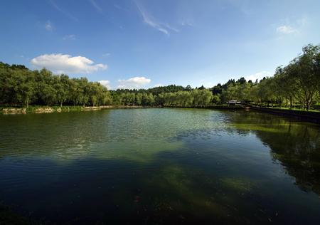 Yuquan lake Stock Photo