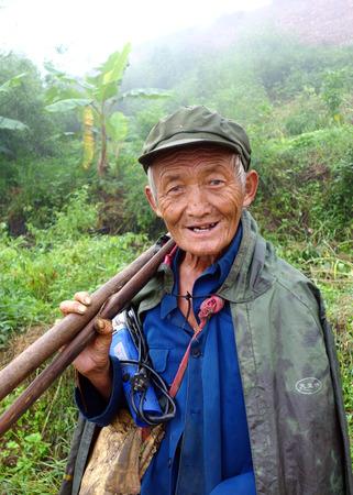 farming area: Old farmer