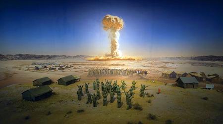bombe atomique: Atomic bomb explosion Éditoriale