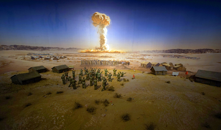 nuclear explosion: Nuclear explosion scene Editorial