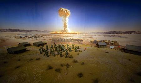 Scène d'explosion nucléaire