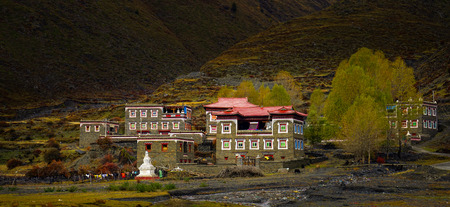 residence: Tibetan residence Stock Photo