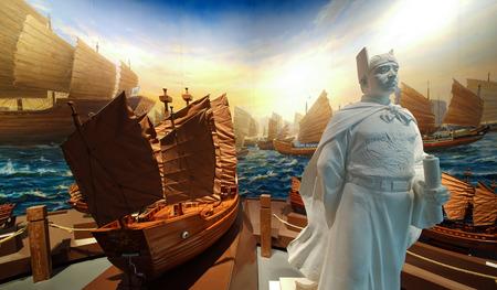 Zheng Hes voyages at china port museum, ningbo