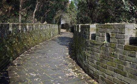 passage: Wall passage Stock Photo