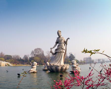 fairy sculpture at Xuanwu Lake Banco de Imagens