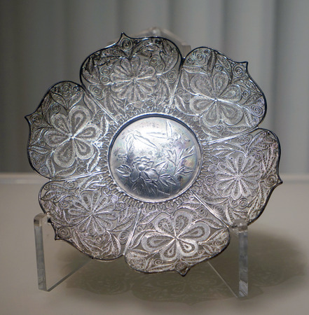 silverware at Lius Manor Museum in Dayi County
