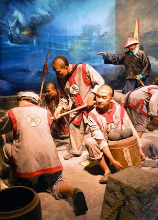 Qing Dynasty naval battle
