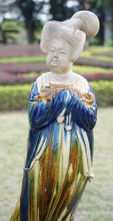 Tang Dynasty woman statue in China Folk Culture Villages