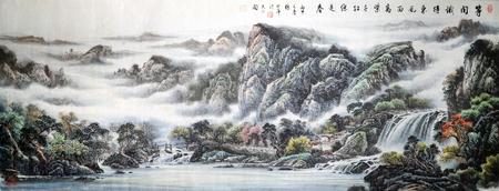 봄 풍경 잉크 그림