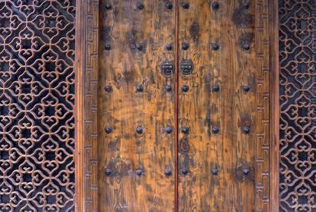 Wooden doors Фото со стока