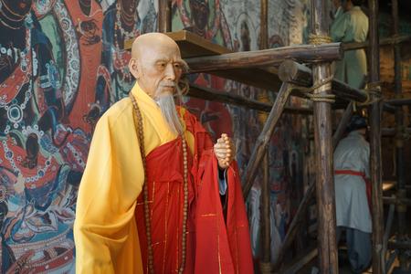 Mogao Grottoes monks statue