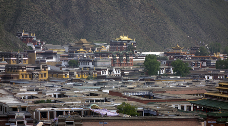 Landscape view of Labrang Monastery Stock fotó