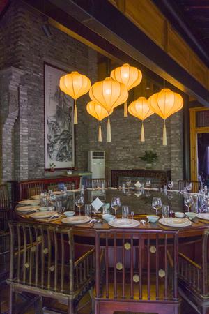 Restaurant at Chengdu leisure Pavilion Editorial
