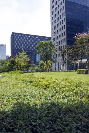 Chengdu high tech Zone landscape view Editorial
