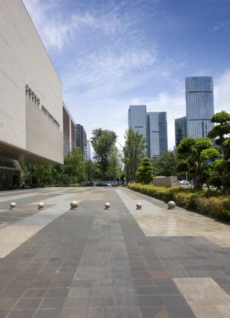 Chengdu Planning Museum landscape view