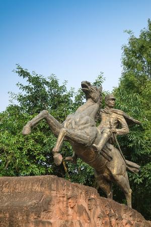 Liu Xiang statue exterior landscape view 版權商用圖片 - 92383675