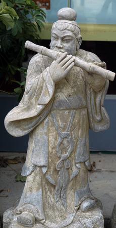 Han Xiang sculpture close up view 版權商用圖片 - 90484523