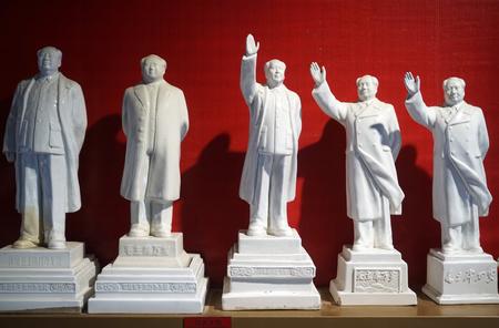 마오 쩌둥 세라믹 동상 jianchuan 박물관에서