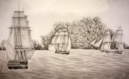 Marine ship painting