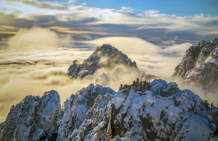 Mount Huangshan snow 免版税图像 - 91795196