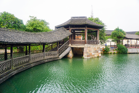 Water bridge in an ancient town