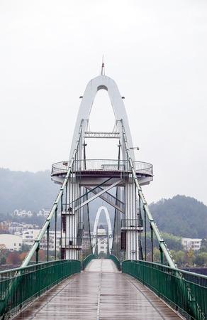 Landscape view of a foot bridge