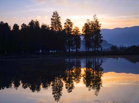 sunrise at park