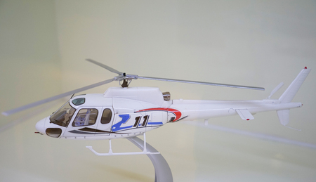 helicopter at exhibition hall