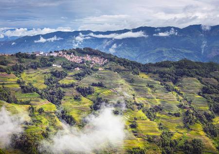 Yuanyang terrassen landschapsmening Stockfoto