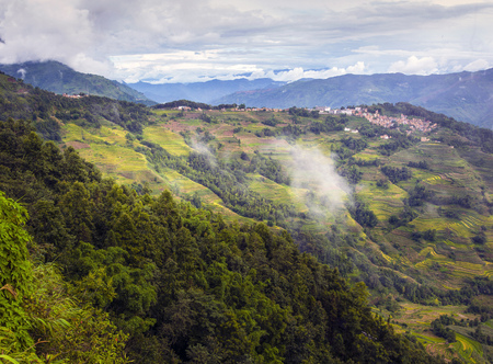 Yunnan bergdorp Stockfoto