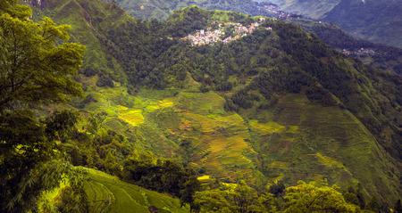 bergdorp landschapsmening